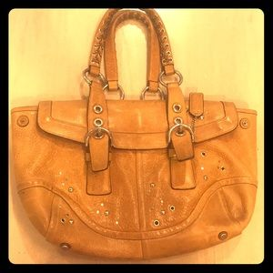 Vintage Coach bag. Amazing quality in light brown